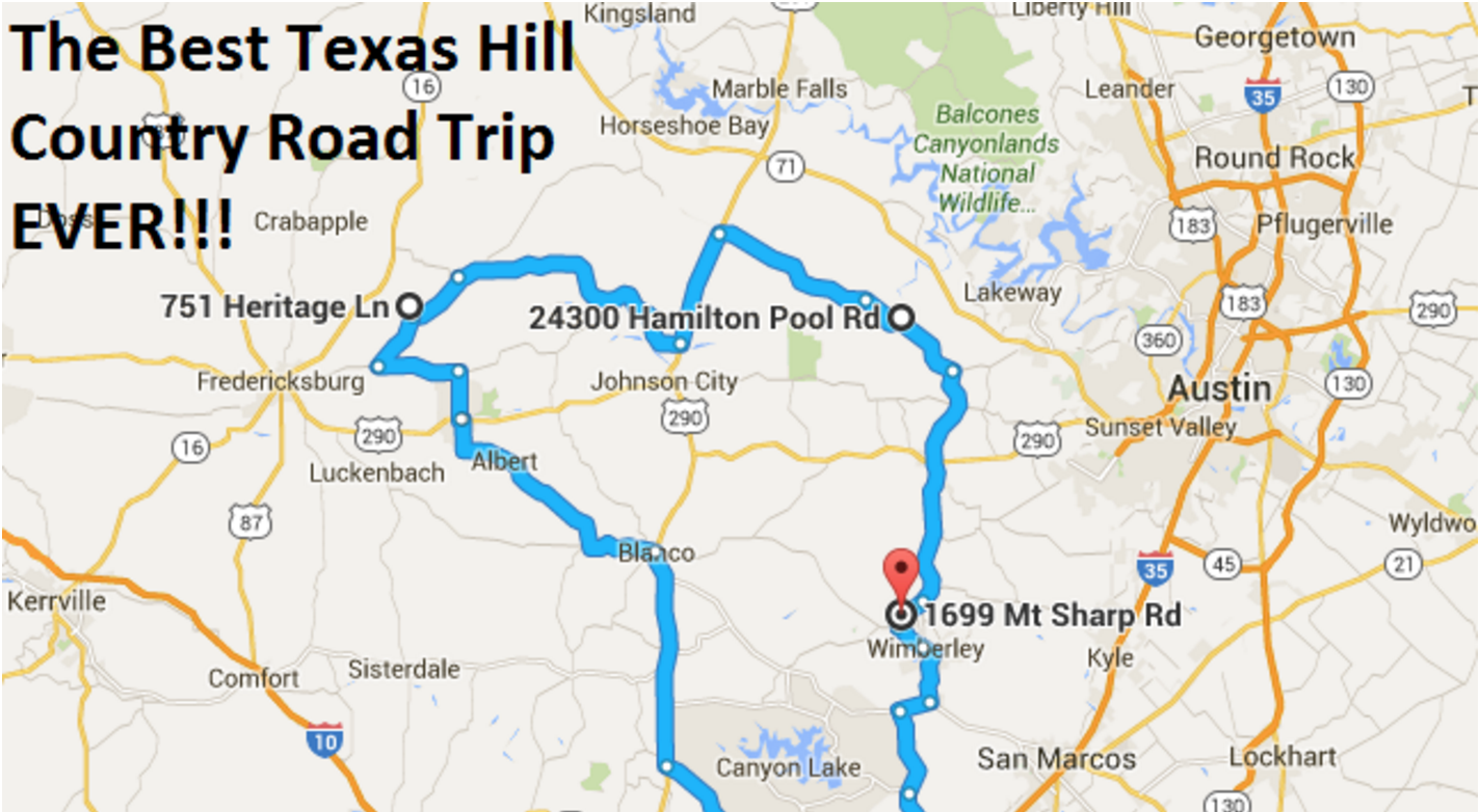 Map Of Texas Google.The Ultimate Texas Hill Country Road Trip