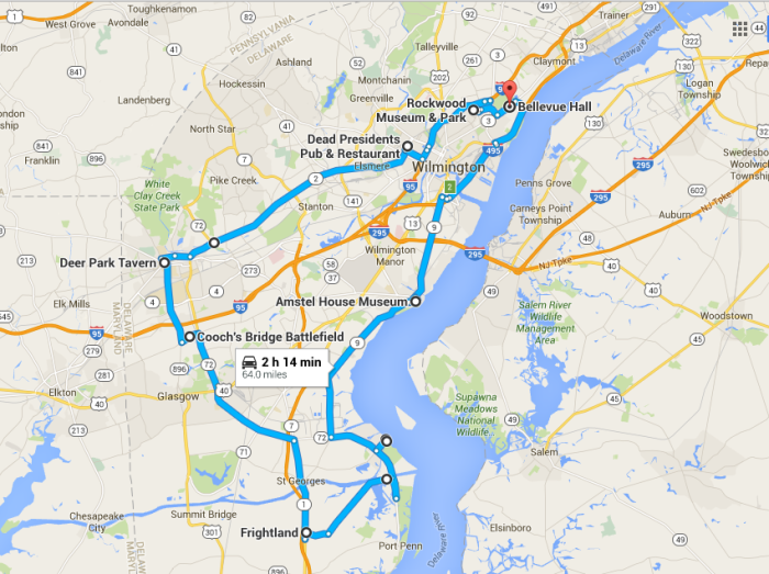 The Ultimate Terrifying Northern Delaware Road Trip - Road map of delaware