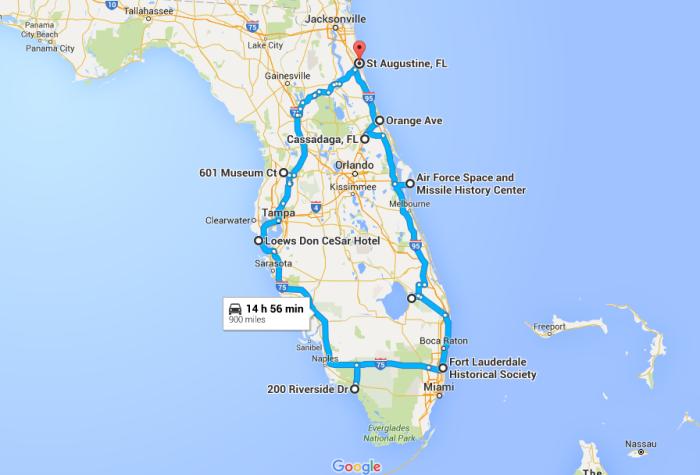 The Ultimate Terrifying Florida Road Trip - Boca raton florida map