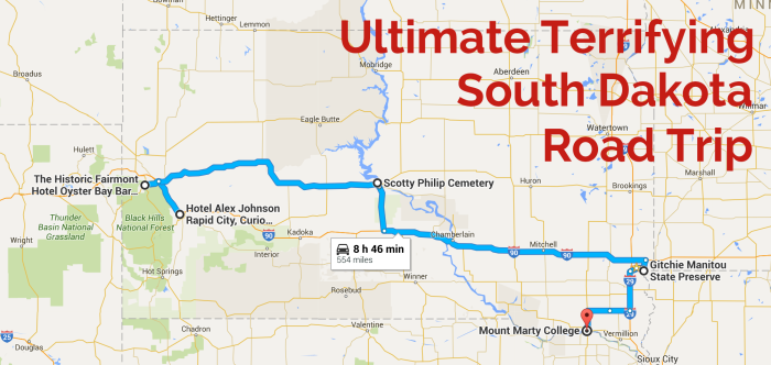 The Ultimate Haunted South Dakota Road Trip – South Dakota Travel Information Map