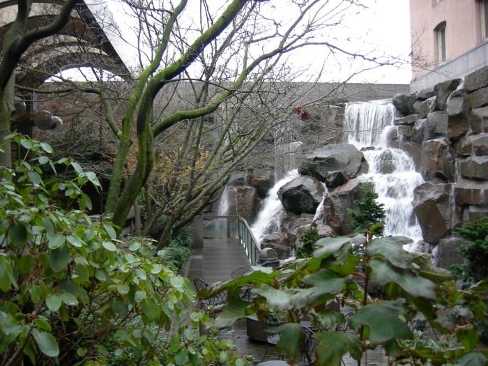 The Ups Waterfall Garden Park In Seattle