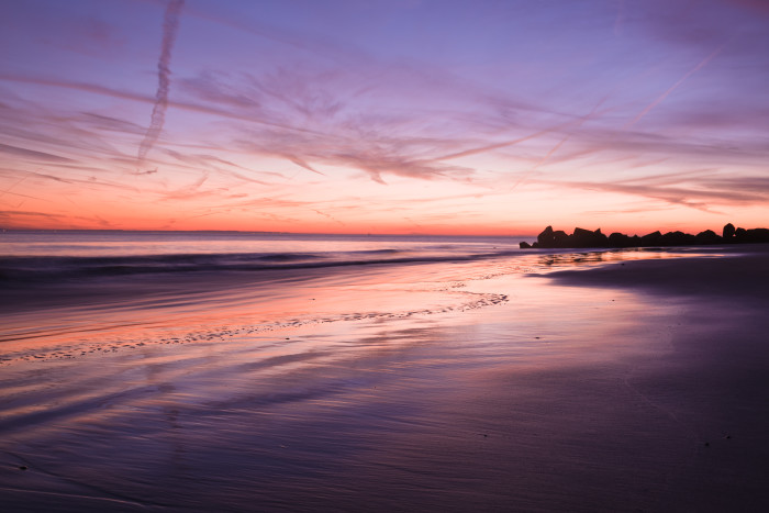 8. A purple cotton candy sky, this view from Coney Island is absolutely striking.