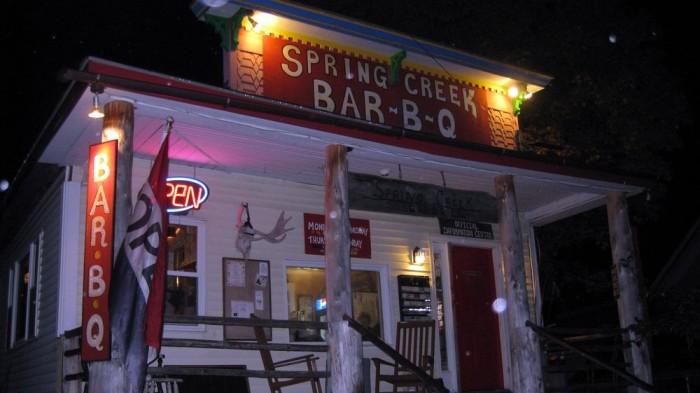 5. Spring Creek Bar-b-que, Monson