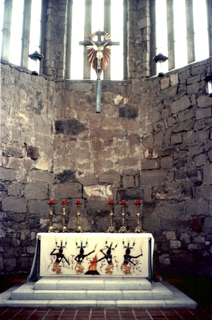 10. The interior of St. Joseph's Apache Mission, a neo-Gothic style church, in Mescalero.