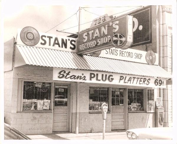 7. Looking over records in Stan's shop in Shreveport.