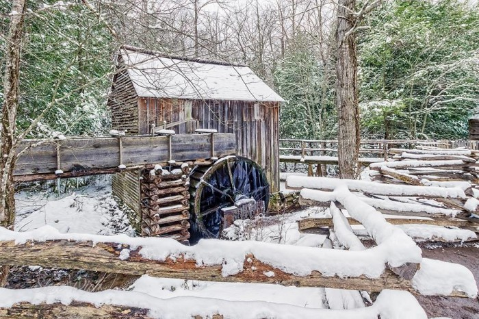6) Steve Rich is reminding us how lovely Cades Cove is during the pretty, chilly wintertime