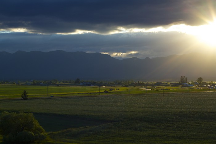 """7. """"Sunrise over Flathead Valley,"""" Somers"""