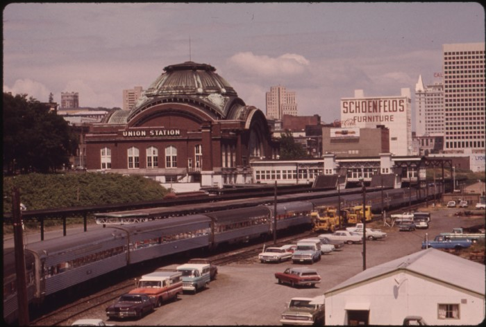 9. The Coast Starlight Passenger Train at the depot in Tacoma, July 1974.