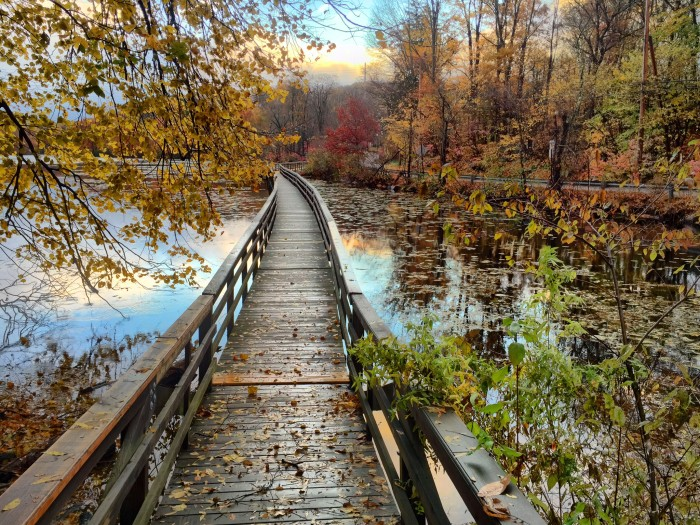 9. Take a relaxing stroll on Teatown Lake in Ossining.