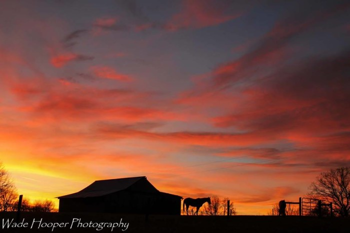 10. Thanks, Wade Hooper - we're in love with this rural sunset!