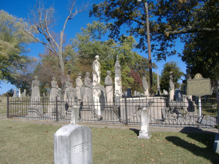 12. The Wooldridge Monuments at Maplewood Cemetery, 611 N 5th Street in Mayfield