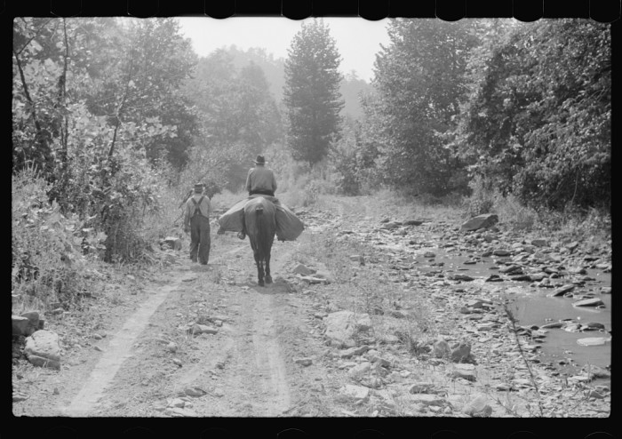 8. The mailman and his horse, who almost everyone looked forward to seeing.