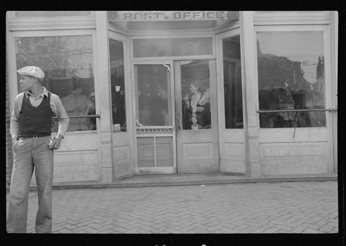 7. The post office of 1935 was a lot different than the ones we see now. They were much smaller and friendlier, and people even hung out there.