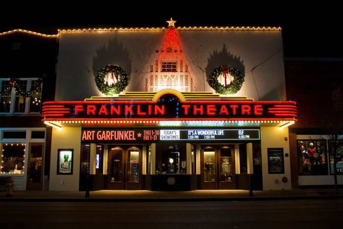 12. The sweetest small town Christmas takes place at the Franklin Theatre.