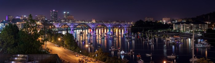 13. This shot of Knoxville is perfect for a solid nighttime car chase.