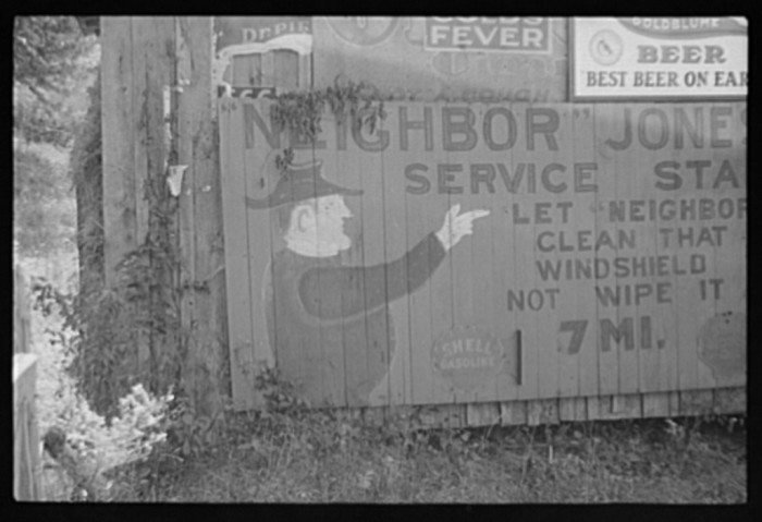 6.  This was one way companies would do their marketing in the 1930s. Barn or house painted ads could be seen from a distance, like the billboards of today, but much cooler.