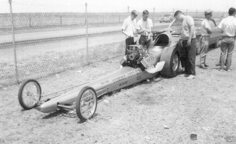 8. Racecars sure have changed. This is Tommy Ivo, ranked 25 on the NHRA's top 50 drivers list in 1966.