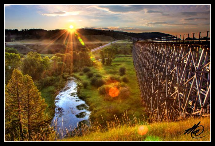 "12.  ""Trestle Bridge Sunrise,"" Spring Creek Junction"