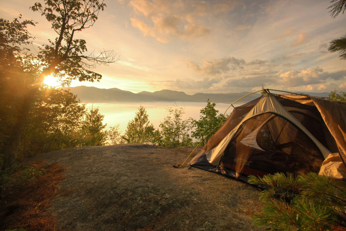 7. Camp up high in the clouds inside the unforgettable Adirondack Mountains.