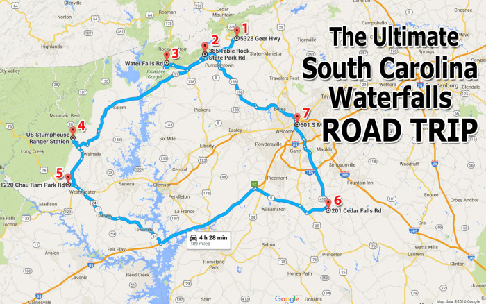 The Ultimate South Carolina Waterfalls Road Trip - Map to south carolina