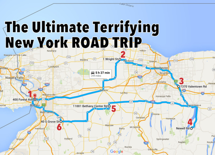 The Ultimate Terrifying New York Road Trip Is Right Here!