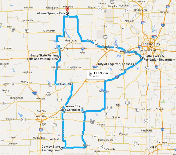 Junction City Kansas Map.The Ultimate Kansas Waterfalls Road Trip