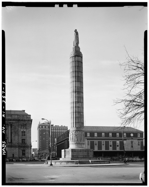 2. This World War 1 monument formerly stood in the Downcity District of Providence in Memorial Square. Erected in the early 1900s, it was later moved just 100 feet to South Main Street.