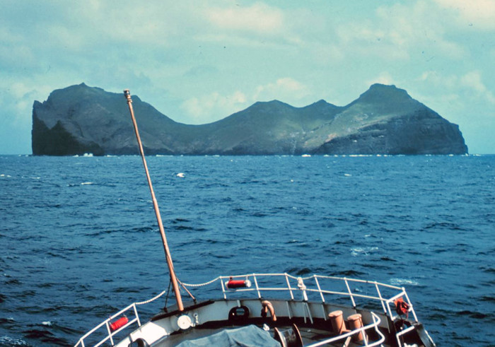 8) View of Nihoa Island in 1969.