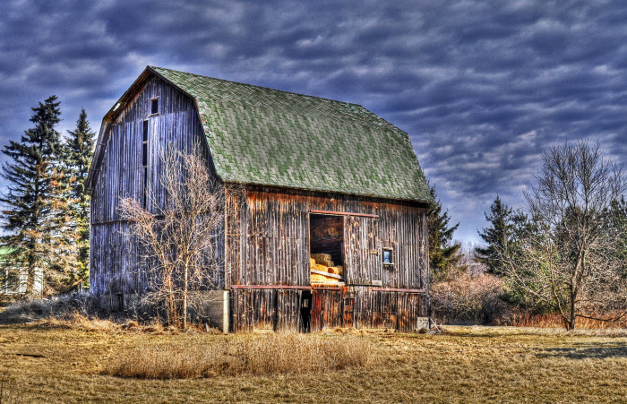 10. A weathered barn in unnamed Michigan location.