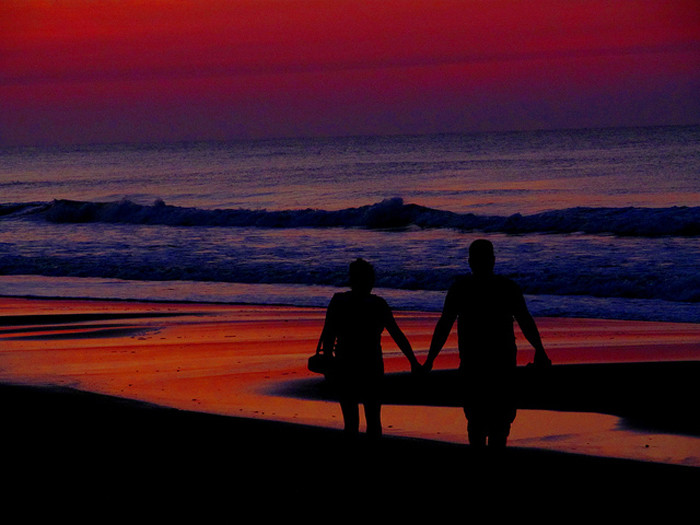 How about a walk on the beach at sunrise?