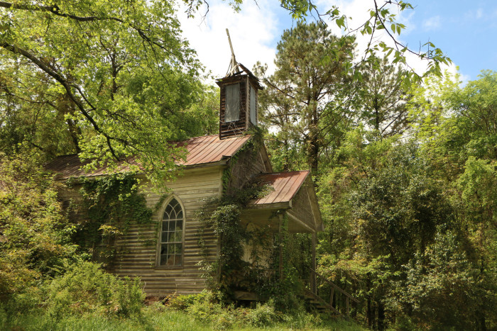 13. In this photo, nature is taking over St. Simon's Church in Peak, SC.