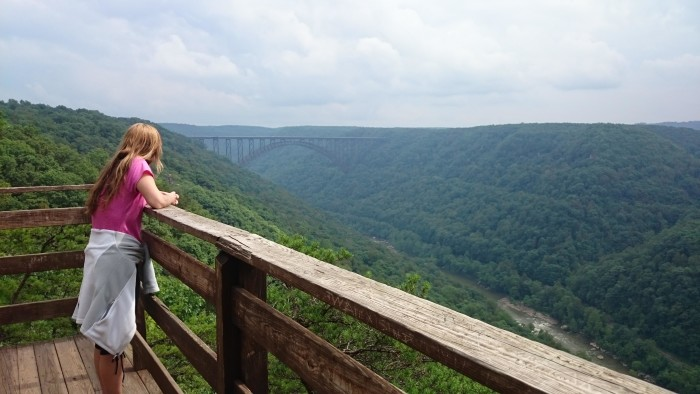 And don't forget to relax and enjoy the view of the New River Gorge from there!