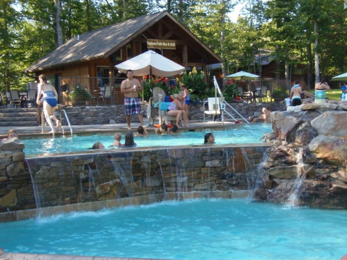 Visitors can also enjoy the resort's award-winning pool, Canyon Falls.