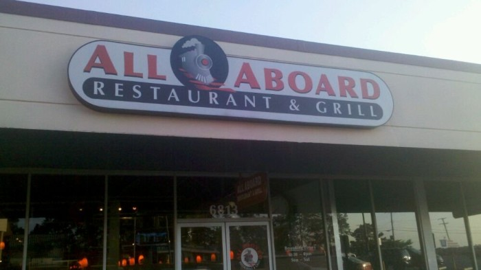 1. All Aboard Restaurant and Grill
