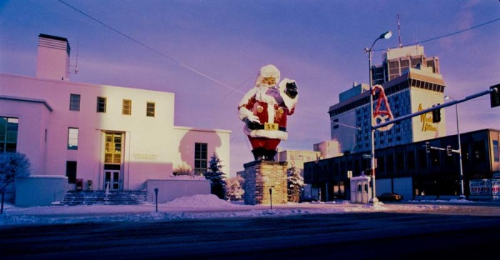 16. A Santa off of 4th Ave in Downtown Anchorage!