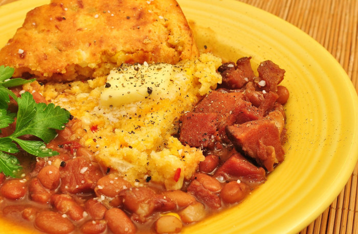 5. Beans and cornbread