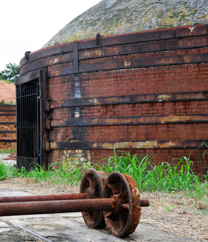 2. A beehive kiln sits abandoned in this photo from the Guignard Brickworks in Cayce, South Carolina.