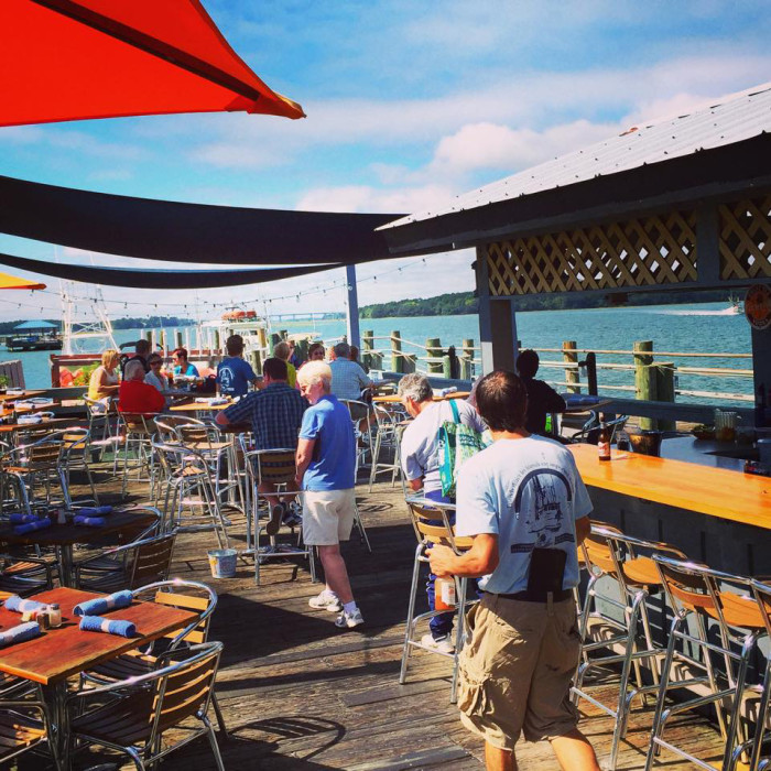 Hudson's Seafood House on the Docks in Hilton Head serves up brunch every Sunday. And if it's too cold on the docks there is also inside seating available. This is another great place for brunch with a view!