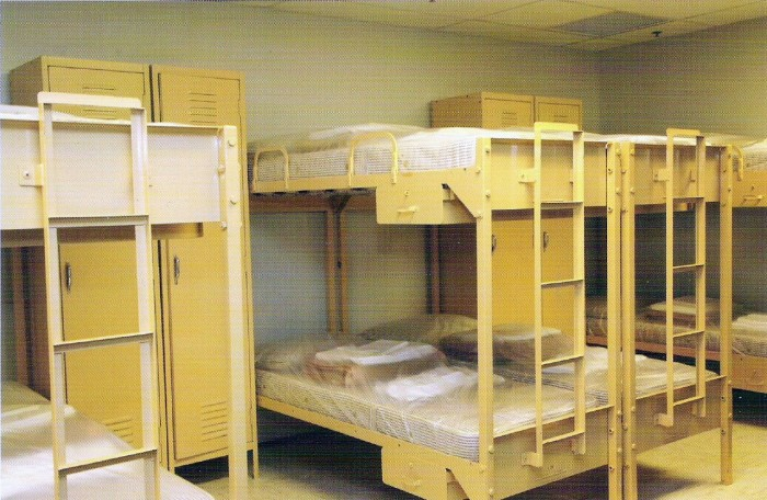 The Bunker had bunkbeds for congressmen to sleep in. It kept a 6-month supply of food that was refreshed from time to time.