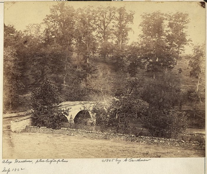 6. This photo of Burnside Bridge was taken in 1862.