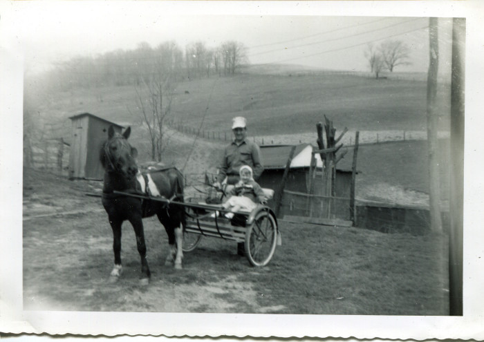 10. This was taken on a farm near Cameron in the 1950s.