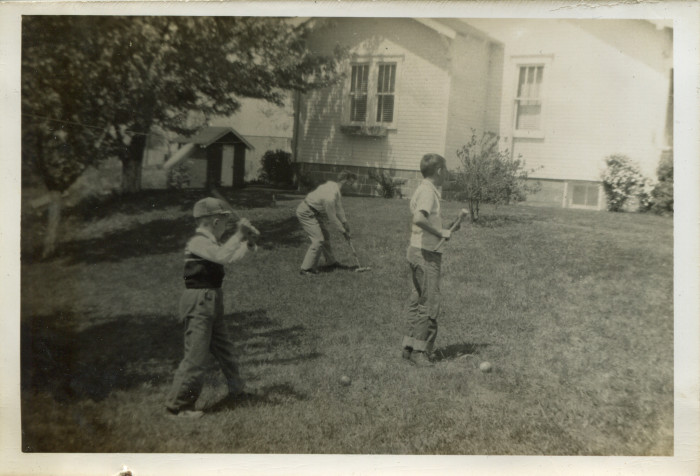 5. Children play croquet at the home of Herman Wendt in Cameron in the 1950s.