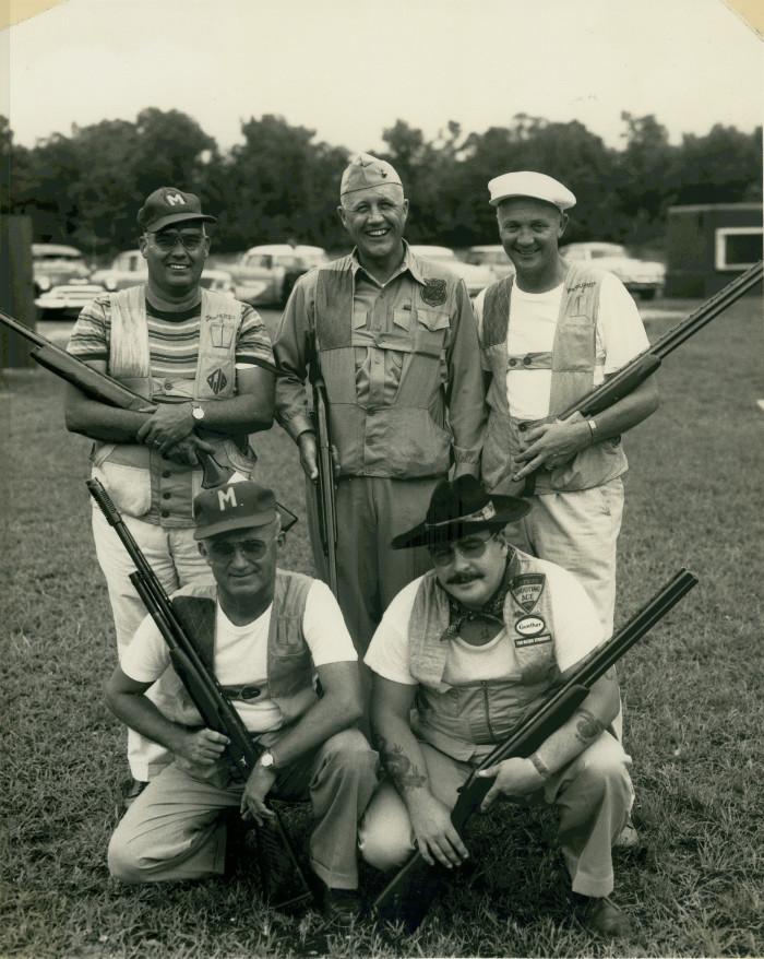 13. Spartanburg, 1959. The Camp LeJune skeet team poses in Spartanburg after a victory.