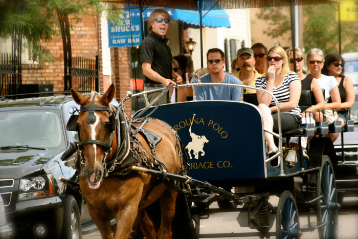 9. You can bet most everyone on this carriage ride is a tourist, except the driver.