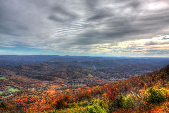 The railroad eventually extended all the way to Bald Knob, which is the third highest peak in West Virginia.