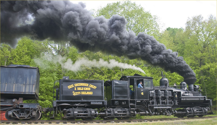 The equipment was sold off and another company began to scrap Cass. But then some local businessmen led by Russell Baum convinced the state Legislature that it should be a state park. It's been one since 1963. As a park, the railroad serves as an excursion train.