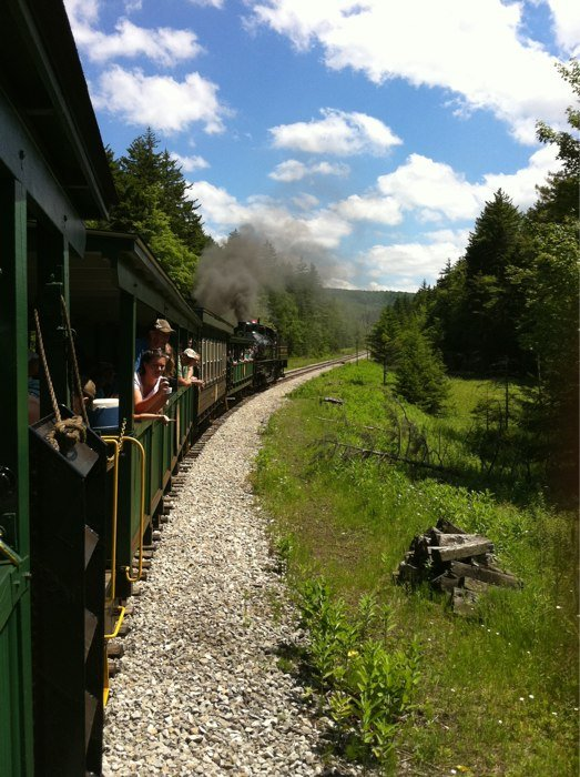 There are three trips available: a 2-hour trip to Whittaker Station, a 5 hour trip to the ghost town of Spruce, and a 4.5-hour trip to Bald Knob.