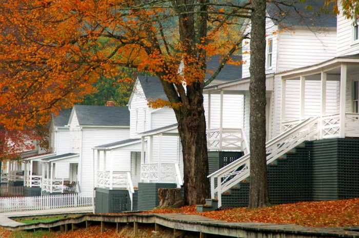 Much about the town of Cass is as it was during its heyday. You can even rent these restored company houses as cottages. You'll also find the company store and train depot.