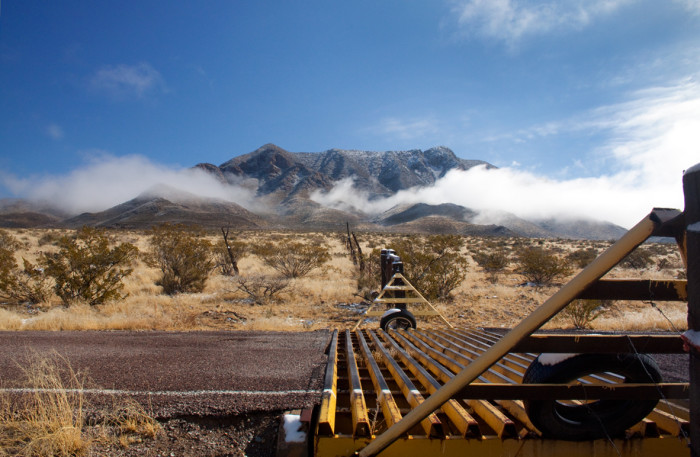 15. Dreamy mist floats in front of the Organ Mountains, near Las Cruces.