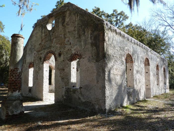 10. The Chapel of Ease on St Helena Island, SC.